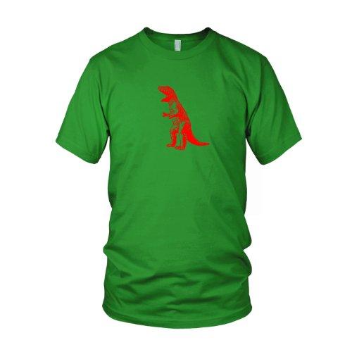 TBBT T-Rex Dinosaur - Herren T-Shirt, Größe: XXL, Farbe: grün