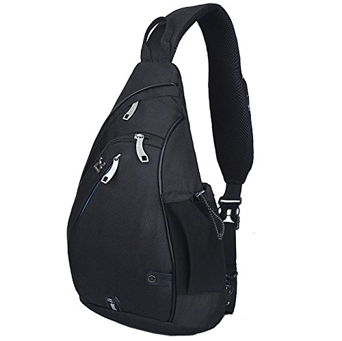 HASAGEI Sport-Rucksack, Schultertasche, für Wandern, Camping, Radfahren, Schule, klein (Schwarz)