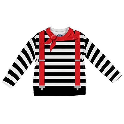 Halloween Französisch Mime Kostüm Alle über Säuglings Lange Ärmel T Shirt Multi 18-24 M