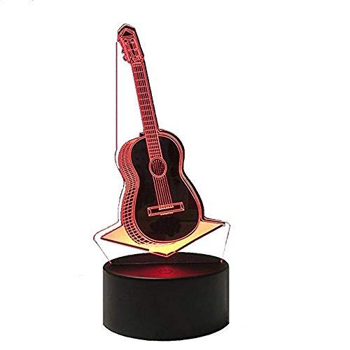 Wangzj 3d Led Illusion Light / 7 colori Light/ottici notturni/lampada da tavolo Atmosphe/Guitar