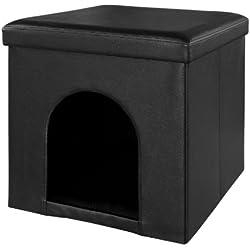 XL! SoBuy Puff, taburete, casa para gatos, casa para perros, choza para perros,FSS31-SCH(negro)