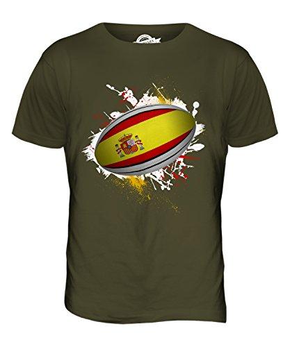 CandyMix Spanien Rugby Ball Herren T Shirt Khaki Grün