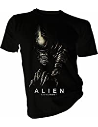 Mens Black Alien Covenant Xeno Silhouette T Shirt