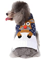 certainPL Small Dog Cat Turtleneck Sweater,Warm Pet Sweater,Christmas Knitted Dog Coats Sweatshirt Apparel for Small Dog Puppy