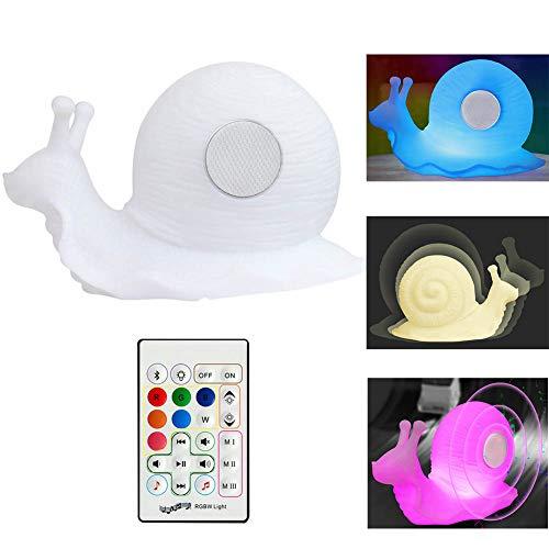 Kreative Bluetooth Musik Nachtlicht, Schnecke Bluetooth Smart LED Standlautsprecher Licht Für Schlafzimmer Wohnzimmer Bar Hotel Geschenk