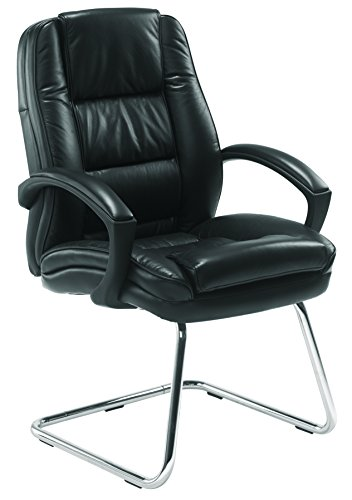 Buy Office Hippo Real Leather Visitor Chair – Leather, Black