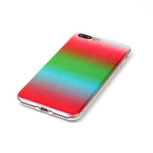 Wkae Case Cover Gradient motif de couleur souple en silicone TPU étui de protection arrière pour IPhone 7 Plus ( Color : K , Size : IPhone 7 Plus ) A