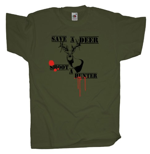Ma2ca - Save a Deer - T-Shirt Olive