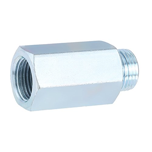 KKmoon Edelstahl Sauerstoff-Sensor O2 Lambda Sensor Extender Abstandhalter für Decat & Wasserstoff M18 -