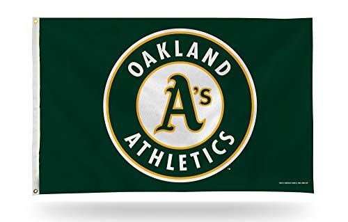 Oakland Athletics A 's Neue Runde Logo Rico 3x 5Flagge Tüllen W/Outdoor House Banner Baseball - Heavy-duty-outdoor-banner