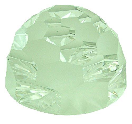 Fermacarte in cristallo al piombo, rettificato, lucido e satinato, diametro ca. 6,8cm