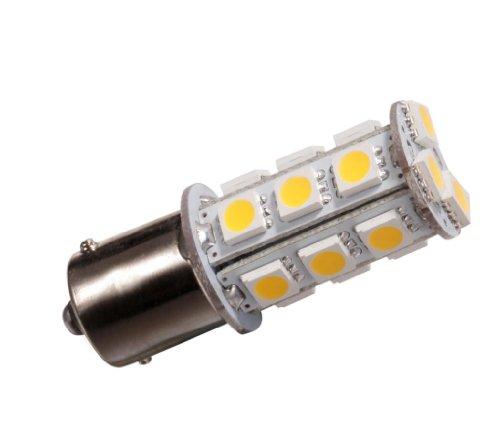 GRV BA15S 1156 1141 High Bright de voiture ampoule LED 18-5050SMD DC 12 V (Blanc chaud/blanc froid)