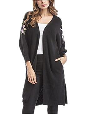 Kerlana Maglieria Donna Giacca Stampa Lungo Cappotto Jacket Moda Giacche Cappotti Con Cappuccio Con Tasche Forcella...