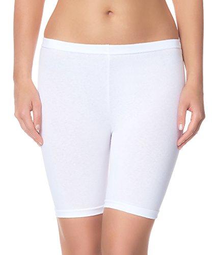 Ladeheid Damen Shorts Long LAMA04 (Weiß11, 4XL/5XL (Herstellergröße: 48/50))