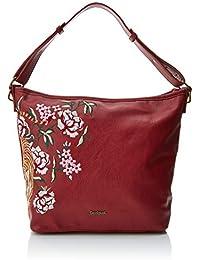 Desigual Bols_rosso Astun - Borse a spalla Donna, Rosso (Carmin), 12x27x25 cm (B x H T)