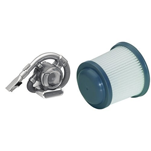 Black & Decker Lithium Dustbuster Flexi PD1820L | 18V Akku Handstaubsauger mit flexiblem Saugschlauch + Ersatzfilter, Reinigungsfilter passend für diverse Modelle der Dustbuster-Akku-Handstaubsauger