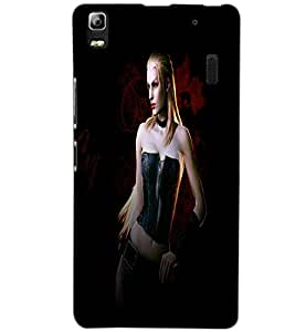 LENOVO A7000 TURBO ACTION GIRL Back Cover by PRINTSWAG