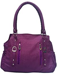 Purple Color Casual Hand Bag For Womens