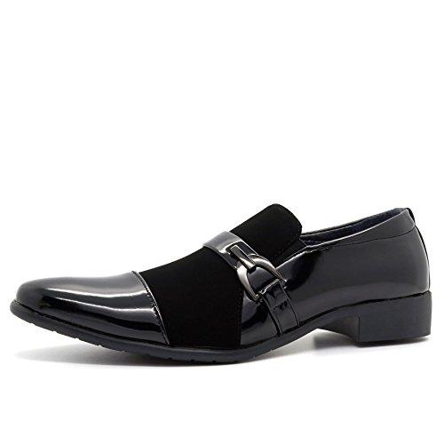 Negro Londres Cuña Sandalias De Calzado Hombre BwqXvq4