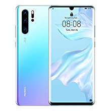 Huawei P30 Pro 128 GB 6.47 Inch OLED Display Smartphone with Leica Quad AI Camera, 8GB RAM, EMUI 9.1.0 Sim-Free Android Mobile Phone, Single SIM, Breathing Crystal, UK Version