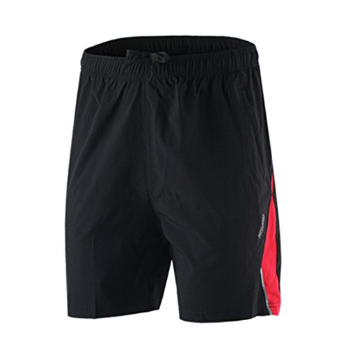 Men Sports Running Shorts red