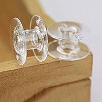 InisIE 25pcs de plástico Transparente para máquinas de Coser Hilo de la canilla Cadena vacía Carretes