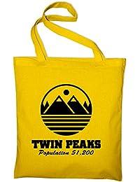 Twin Peaks welcome Jutebeutel, Beutel, Stoffbeutel, Baumwolltasche
