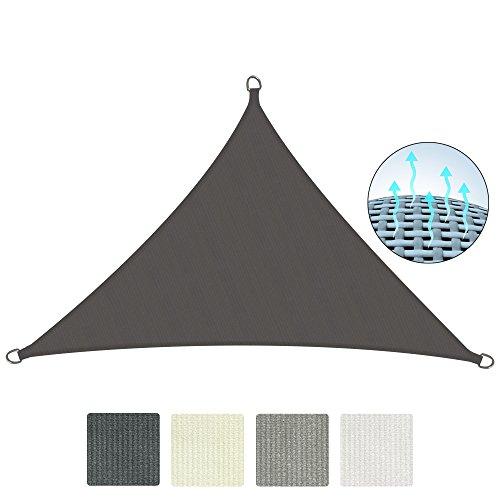 Sol royal tenda a vela solvision 4,2x4,2x6m parasole traspirante per esterno protegge da sole e raggi uv - antracite