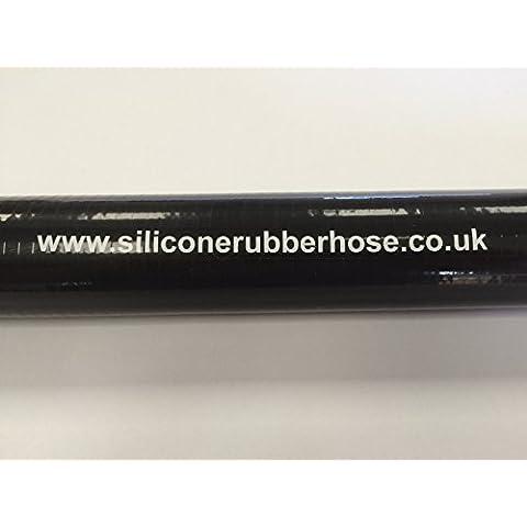 Manguera de silicona acoplador recto 35mm ID x 460mm de largo negro