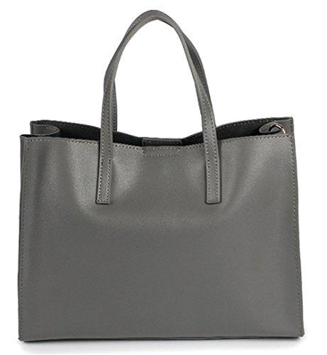 Xinmaoyuan Borse donna borsette in cuoio borsetta Leisure Tote grande capacità Ladies borse a tracolla Grigio