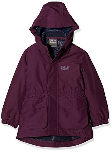 Jack Wolfskin Mädchen Ice CAVE 3IN1 Jacket Girls 3in1-jacke, aubergine, 140
