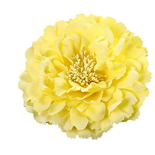 Vikenner Haarspangen Big peony flower hair clip KroneHairclips Haarnadeln baby Haarschmuck Haarnadel karte Haarklammern Frauen Mädchen Haar Pin Metall yellow 11cm (Yellow Flower Hair Pin)