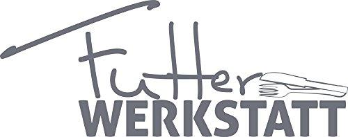 GRAZDesign Wandtattoo für Küche - Besonderes Geschenk Beste Freundin Wandtattoo Besteck mit Spruch - Küchensprüche für die Wand lustiges Küchen Motiv / 101x40cm / 071 grau