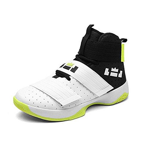 Cystyle Herren Jungen Basketball-shoes Basketballschuhe Outdoorschuhe Hohe Sneaker Weiß