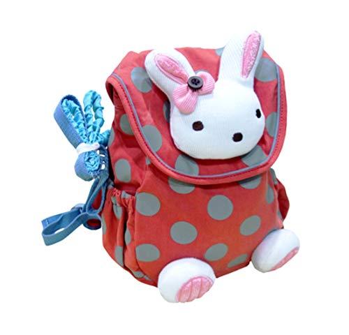 Repuhand Baby Rucksack Kinder Backpack mit Sicherheitsleinen Karikatur-Tier Kaninchen Muster Rucksack
