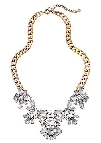 Happiness Boutique Damen Statement Kette Glamour und Glitzer in (Kostüm Inspiriert Hippie)