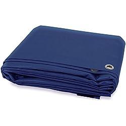 Lona impermeable ETM® con ojete | protección exterior | resistente al agua y en los UV | alta densidad 180g/m²–tamaños y colores a elegir, azul