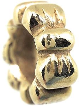 Pandora Charm Schleife 790303 mit 24 Karat Gold vergoldet