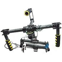 gowe3Axis cámara Brushless Gimbal de fibra de carbono estabilizado soporte para cámara PTZ w/Motor para 5D25D3D800fotografía aérea