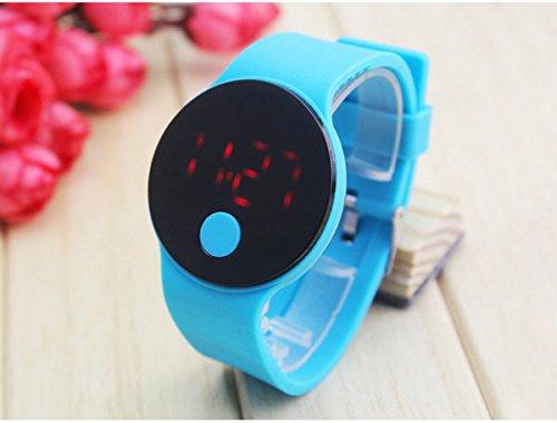Tocoss(TM) Neue Art und Weise der Screen-LED-Armband Digital-Uhren f¨¹r M?nner & Damen & Kind Uhr Damen-Armbanduhr Sport Armbanduhr Saat [blau]
