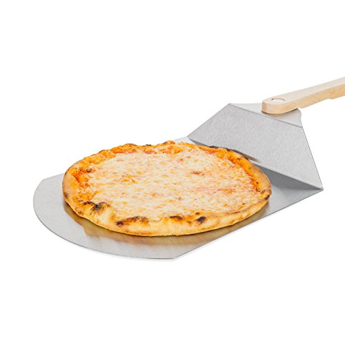 Premium Pala per pizza, in acciaio inox, con manico in legno-Paletta per pizza pala per pizza--adatto anche come pane schieber, Pala per torta o forno cucina