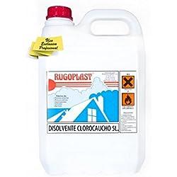Disolvente clorocauchos diluyente para barnices y pinturas a base de resinas de clorocaucho (pintura piscinas al clorocaucho) (5L) Envío GRATIS