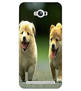 ASUS ZENFONE MAX PUPPIES Back Cover by PRINTSWAG
