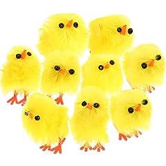 Idea Regalo - 60 Pezzi Pollo di Pasqua Piccolo Carino Pulcino Giallo di Pasqua Uovo Cofano Festa Favorire Decorazione, 1.2 Pollici
