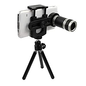 Mobile Lens 12x Zoom Mobile Telescope Lens kit for All Mobile Camera with Tripod | DSLR Blur Background compitable with Lenovo, Xiaomi MI, Vivo, Oppo & All Android Devices [ Android & iOS Devices ] By Mobimint