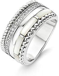 TI SENTO Milano Ring aus rhodiniertem Sterlingsilber - Größe 54 (17,25mm)