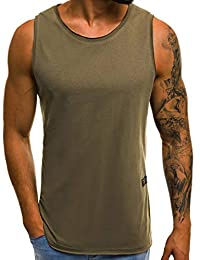 095285a8a6e8 Annstar Men Gym Fitness Tank Top Sleeveless Sport Casual Running Jogging  Vest T-Shirt