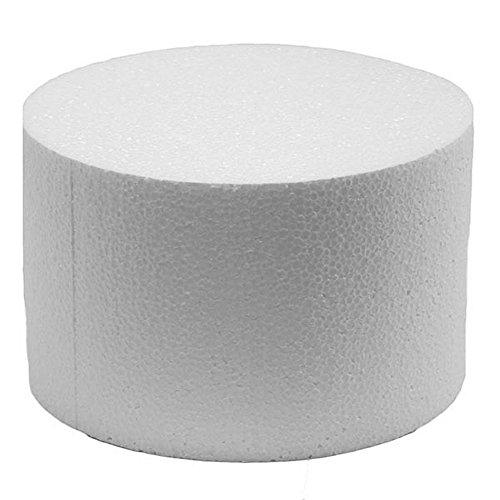 Decora Polystyrol Disk Form Dummy Kuchen für Dekoration, Creme, Polystyrol, Beige, 10 x 10 cm