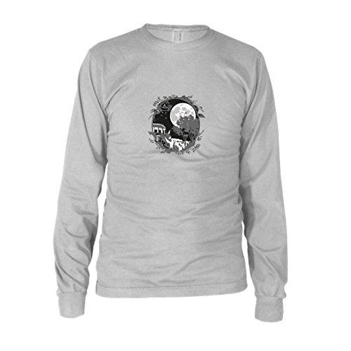 Kostüm Studio Ghibli Cosplay - Nachbar Ornament - Herren Langarm T-Shirt, Größe: M, Farbe: weiß