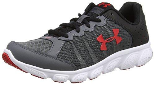 Under Armour Ua Bgs Micro G Assert 6, Chaussures de Running Compétition Garçon Gris (Rhino Gray 076)
